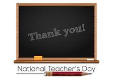 Εθνικό σχέδιο ημέρας δασκάλων απεικόνιση αποθεμάτων