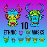 Εθνικό σχέδιο μασκών χρώματος τυπωμένων υλών Στοκ εικόνα με δικαίωμα ελεύθερης χρήσης