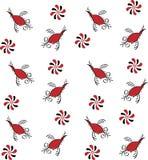 Εθνικό σχέδιο με τα πουλιά και τα λουλούδια Στοκ Φωτογραφίες