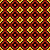 Εθνικό σχέδιο λουλουδιών Στοκ φωτογραφία με δικαίωμα ελεύθερης χρήσης