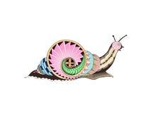 Εθνικό σχέδιο σαλιγκαριών στοκ φωτογραφία