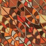Εθνικό σχέδιο στα γήινα χρώματα με τα μοτίβα μιας ασπίδας χορού των πληθυσμών Kikuyu της κεντρικής Κένυας Στοκ Εικόνα