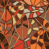 Εθνικό σχέδιο στα γήινα χρώματα με τα μοτίβα μιας ασπίδας χορού των πληθυσμών Kikuyu της κεντρικής Κένυας Στοκ φωτογραφία με δικαίωμα ελεύθερης χρήσης