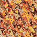 Εθνικό σχέδιο στους γήινους τόνους με τα μοτίβα μιας ασπίδας χορού των πληθυσμών Kikuyu της κεντρικής Κένυας Στοκ Εικόνα