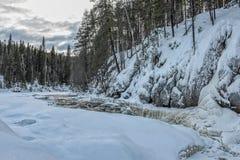 Εθνικό τοπίο πάρκων Korouoma Στοκ Φωτογραφία