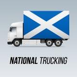 Εθνικό φορτηγό παράδοσης ελεύθερη απεικόνιση δικαιώματος