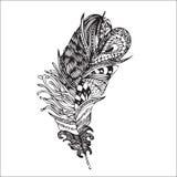Εθνικό φτερό σε ένα άσπρο υπόβαθρο Ο τρύγος δίνει καλλιτεχνικά διανυσματική απεικόνιση