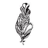 Εθνικό φτερό σε ένα άσπρο υπόβαθρο Ο τρύγος δίνει καλλιτεχνικά ελεύθερη απεικόνιση δικαιώματος