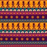 Εθνικό φυλετικό άνευ ραφής σχέδιο Ζωηρόχρωμο των Αζτέκων υπόβαθρο Στοκ Φωτογραφία