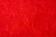 Εθνικό ύφασμα του Paisley κινηματογραφήσεων σε πρώτο πλάνο κόκκινο όμορφο υφαμένο περίκομψο στοκ εικόνες