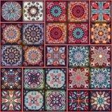 Εθνικό floral άνευ ραφής σχέδιο mandala ζωηρόχρωμο μωσαϊκό ανασκόπησης Στοκ φωτογραφίες με δικαίωμα ελεύθερης χρήσης