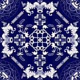 Εθνικό floral άνευ ραφής σχέδιο Στοκ Εικόνα