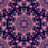 Εθνικό floral άνευ ραφής σχέδιο Στοκ Φωτογραφία