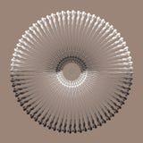 Εθνικό Mandala Διανυσματική τέχνη διακοσμήσεων κύκλων Στοκ Εικόνες