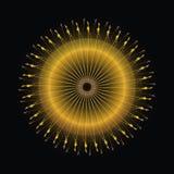 Εθνικό Mandala Διανυσματική τέχνη διακοσμήσεων κύκλων Απεικόνιση αποθεμάτων