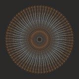Εθνικό Mandala Διανυσματική τέχνη διακοσμήσεων κύκλων Διανυσματική απεικόνιση