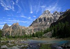 εθνικό yoho πάρκων λιμνών καταρ&r στοκ εικόνες