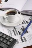 ειδήσεις φλυτζανιών επιχειρησιακού καφέ Στοκ Εικόνες