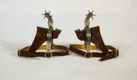 Ειδικά παπούτσια για να προσθέσουν στα άλογα φιαγμένα από δέρμα cowκαι είναι πολύ χρήσιμοι σε οποιοδήποτε κάουμποϋ Στοκ Εικόνες