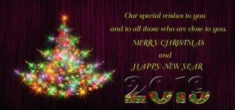 Ειδικές επιθυμίες για τα Χριστούγεννα και το νέο έτος 2019 ελεύθερη απεικόνιση δικαιώματος