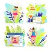 Ειδική κάρτα εποχής με το καλοκαίρι επιγραφής γειά σου απεικόνιση αποθεμάτων