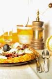 Ειδική πίτσα βάσεων πατατών Στοκ Εικόνα