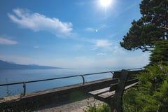 Ειδυλλιακές απόψεις της λίμνης της Γενεύης στοκ εικόνα με δικαίωμα ελεύθερης χρήσης