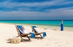 Ειδυλλιακή παραλία στην Αφρική Στοκ φωτογραφία με δικαίωμα ελεύθερης χρήσης