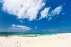 Ειδυλλιακή παραλία στις Καραϊβικές Θάλασσες Στοκ εικόνες με δικαίωμα ελεύθερης χρήσης