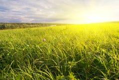 ειδυλλιακό τοπίο αγρο&tau Στοκ Φωτογραφία
