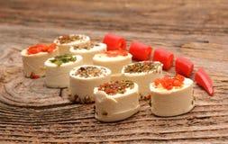 Ειδώλια τυριών κρέμας Στοκ φωτογραφία με δικαίωμα ελεύθερης χρήσης