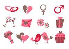 Εικονίδια αγάπης Στοκ φωτογραφίες με δικαίωμα ελεύθερης χρήσης