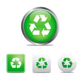 εικονίδια ανακύκλωσης Στοκ εικόνα με δικαίωμα ελεύθερης χρήσης
