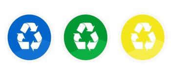 εικονίδια ανακύκλωσης Στοκ Εικόνες