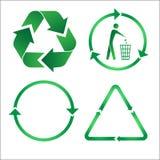 εικονίδια ανακύκλωσης Στοκ φωτογραφία με δικαίωμα ελεύθερης χρήσης
