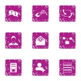 Εικονίδια απάντησης ταχυδρομείου καθορισμένα, grunge ύφος Στοκ εικόνες με δικαίωμα ελεύθερης χρήσης