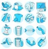 Εικονίδια απορριμάτων απεικόνιση αποθεμάτων