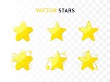 Εικονίδια αστεριών καθορισμένα r ελεύθερη απεικόνιση δικαιώματος