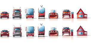εικονίδια αυτοκινήτων Στοκ Φωτογραφία