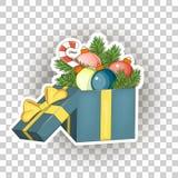 Εικονίδια αυτοκόλλητων ετικεττών Χριστουγέννων διάνυσμα Στοκ φωτογραφίες με δικαίωμα ελεύθερης χρήσης