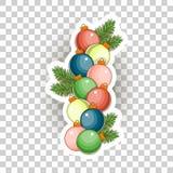Εικονίδια αυτοκόλλητων ετικεττών Χριστουγέννων διάνυσμα Στοκ εικόνες με δικαίωμα ελεύθερης χρήσης