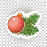 Εικονίδια αυτοκόλλητων ετικεττών Χριστουγέννων διάνυσμα Στοκ Φωτογραφίες