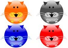 εικονίδια γατών Στοκ εικόνες με δικαίωμα ελεύθερης χρήσης