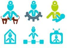 εικονίδια γιατρών που τίθ& διανυσματική απεικόνιση