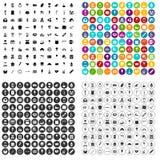 100 εικονίδια γλυκών καθορισμένα τη διανυσματική παραλλαγή Στοκ φωτογραφίες με δικαίωμα ελεύθερης χρήσης
