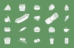Εικονίδια 02 γρήγορου φαγητού απεικόνιση αποθεμάτων