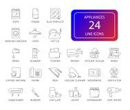 Εικονίδια γραμμών καθορισμένα Πακέτο συσκευών στοκ φωτογραφία με δικαίωμα ελεύθερης χρήσης