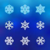 Εικονίδια γραμμών χειμερινού χιονιού Στοκ φωτογραφίες με δικαίωμα ελεύθερης χρήσης