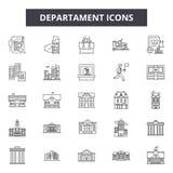 Εικονίδια γραμμών Departament, σημάδια, διανυσματικό σύνολο, έννοια απεικόν απεικόνιση αποθεμάτων