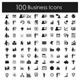 Εικονίδια γραφείων και επιχειρήσεων καθορισμένα διανυσματικά απεικόνιση αποθεμάτων